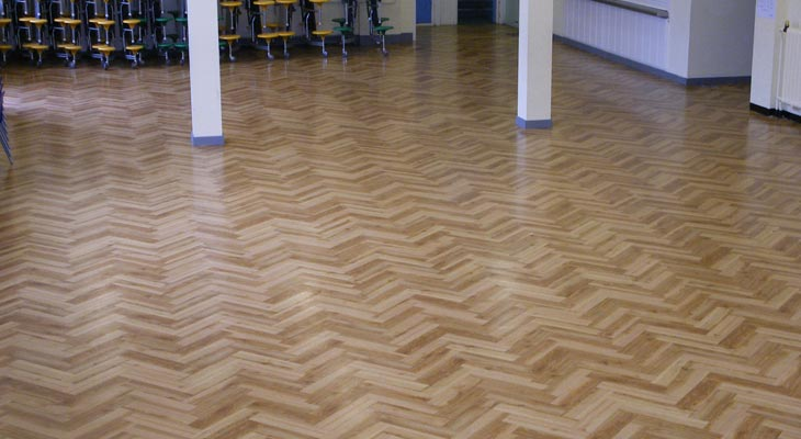 Amtico being install in Wyvil School hall