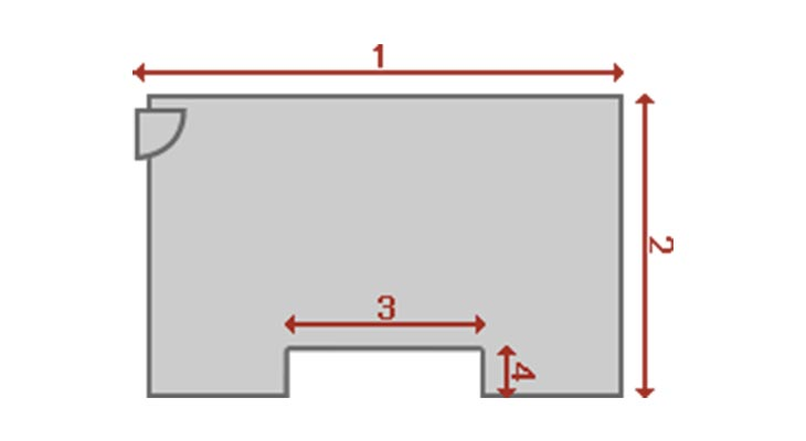 Room floor measurement diagram