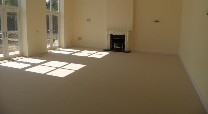 Installation of lounge carpet in Horsham
