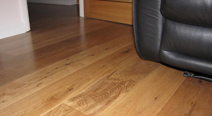 Cats eye view of wood flooring in Croydon