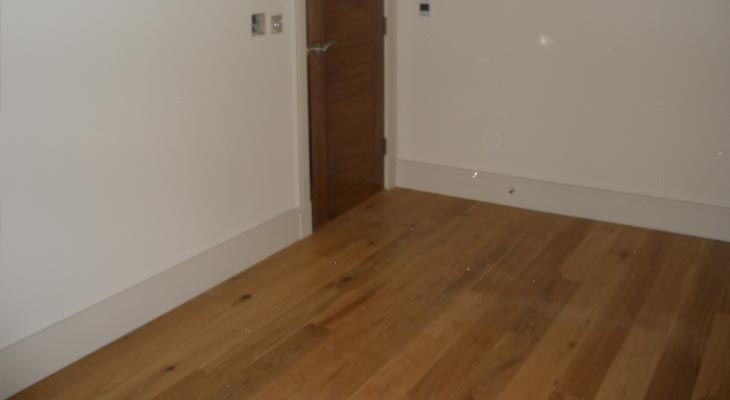 Different angle of the wood flooring in horsham installation