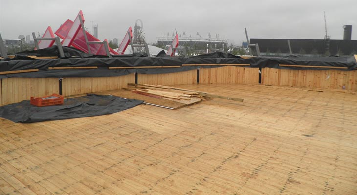 Timber roof deck flooring