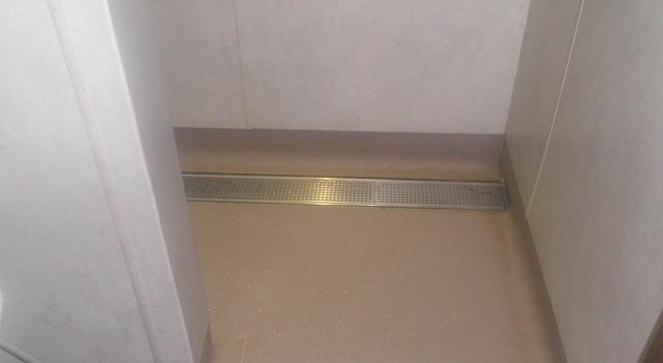 A slip resistant hygienic finish was achieved
