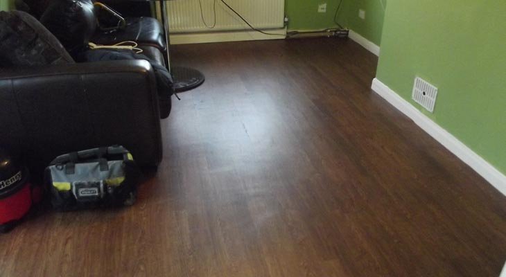 Wood effect Amtico vinyl flooring
