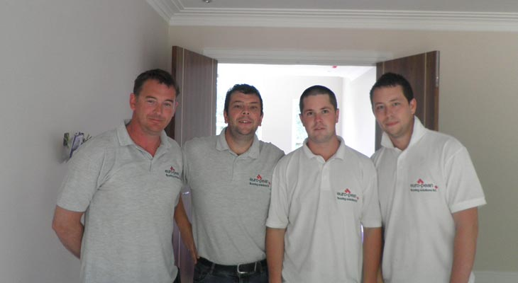 From left to right - Derek Till, John Pean, Chris Peto and Anthony Peto