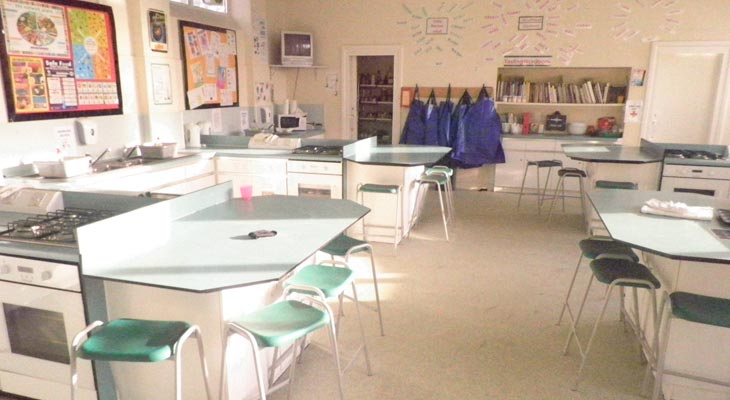 School classroom flooring.
