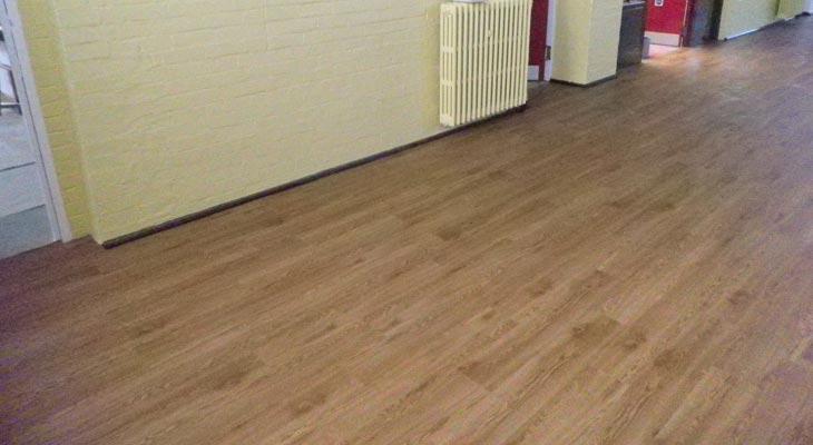 Sports hall flooring.