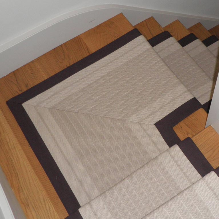 Bespoke stair runner in Esher