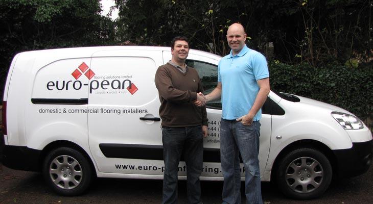 John Pean of Euro-Pean Flooring pictured with website designer John Franks