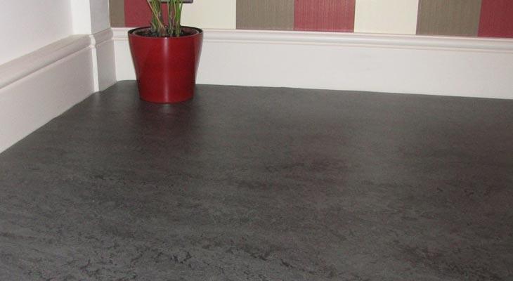Dark grey linoleum flooring in Horsham