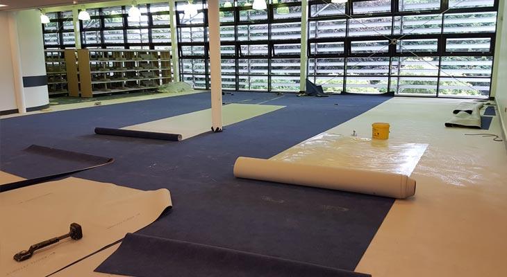 Installing super hard wearing library flooring