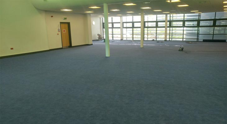 Different view of the library flooring in Godalming