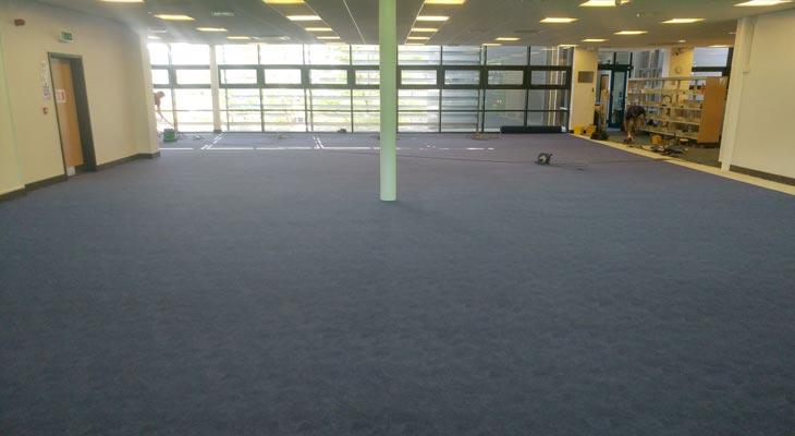 Library flooring in Godalming