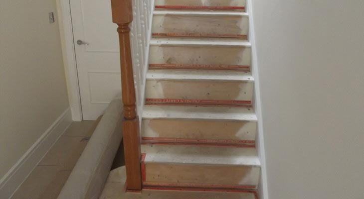 Stairs with new gripper rods
