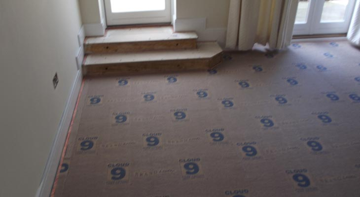 Living room with Cloud 9 underlay fitted
