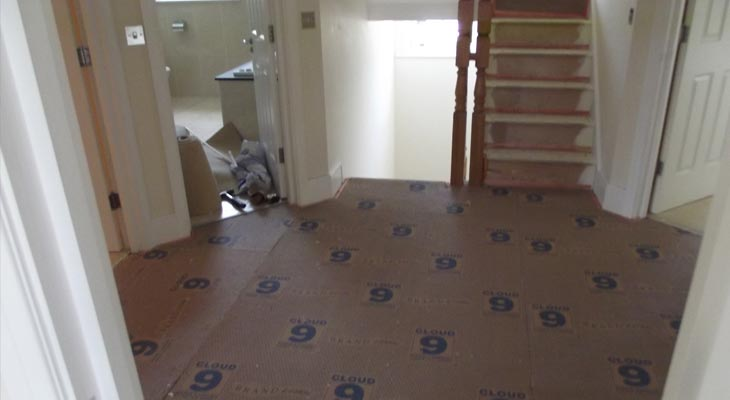 First floor landing with Cloud 9 underlay fitted