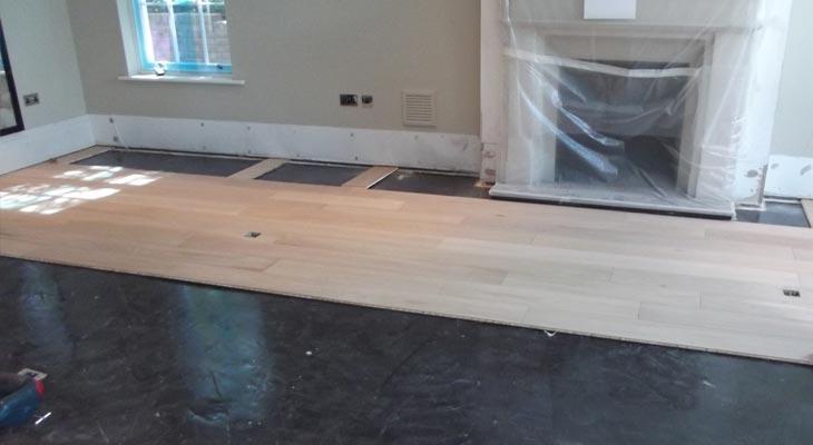 Engineered oak flooring in Oxshott