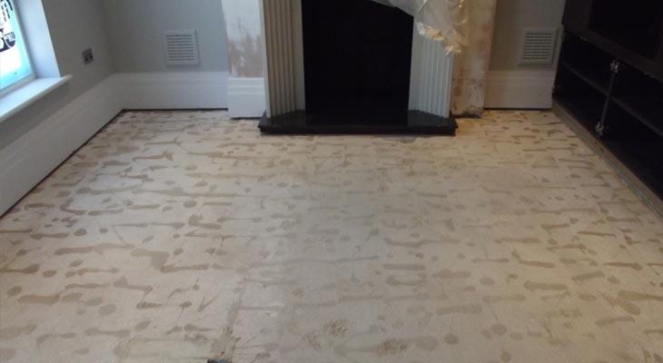 Oak flooring damaged by water ingress